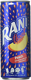 Rani Float Peach Fruit Drink With Real Fruit Pieces Can, 240ml - Pack of 24