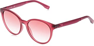 Lacoste Round Sport Inspired Transparent Cyclamen Sunglasses For Women 54-17-140mm