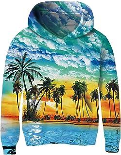UNICOMIDEA Unisex Sweatshirt Kids Hoodies 3D Print Pullover Clothes with Pocket for 3-14T
