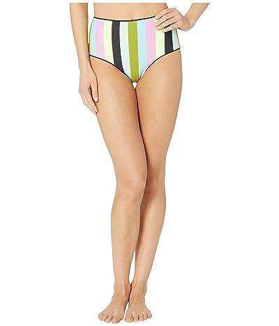 Maaji Darling Reversible High-Waist Cheeky Coverage Bikini Bottoms (Artemis Black Rib) Women