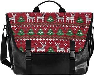 Bolsa de lona clásica para hombre y mujer, diseño retro de árbol de Navidad, ideal para iPad, Kindle, Samsung
