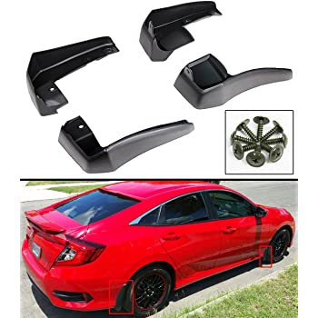 Red Hound Auto Compatible with Honda 2006-2011 Civic 4-Door Sedan Mud Flaps Splash Guards Front and Rear Molded 4pc Full Set Will not fit 2-Door Coupe or Si Models