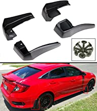 Cuztom Tuning Fits for 2016-2019 10TH Gen Honda Civic 4 Door Sedan Front & Rear Mud Flap Splash Guards - 4 Pieces Set