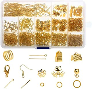 Jewellery Earring Making Kit, 1010Pcs Gold Jewelry Repair Tools with Accessories Jewelry Pliers Findings and Beading Wires...