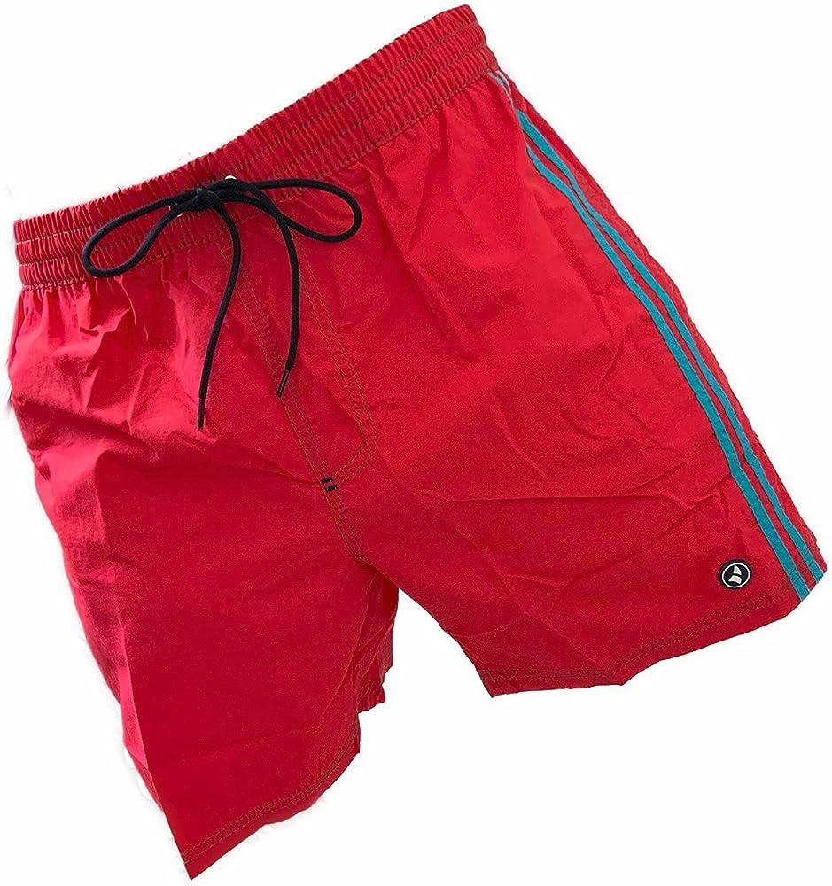Navigare costume da bagno a pantaloncini da uomo 100% poliestere 98342 Red