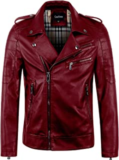 Best red biker jacket mens Reviews