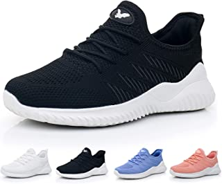 JARLIF Women's Memory Foam Slip On Walking Tennis Shoes Lightweight Gym Jogging Sports Athletic Running Sneakers US5.5-10