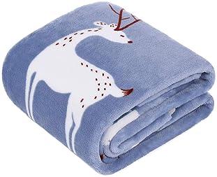 "ZooFleece White Dinosaurs 30X40/"" Kids Baby Blanket Throw Quilt Christmas Winter"