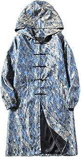 MogogoMen Martial Arts Traditional Multicamo Large Size Trench Coat