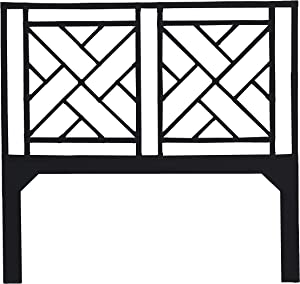 Inspired by David Francis Alden Chippendale Headboard, Queen, Black
