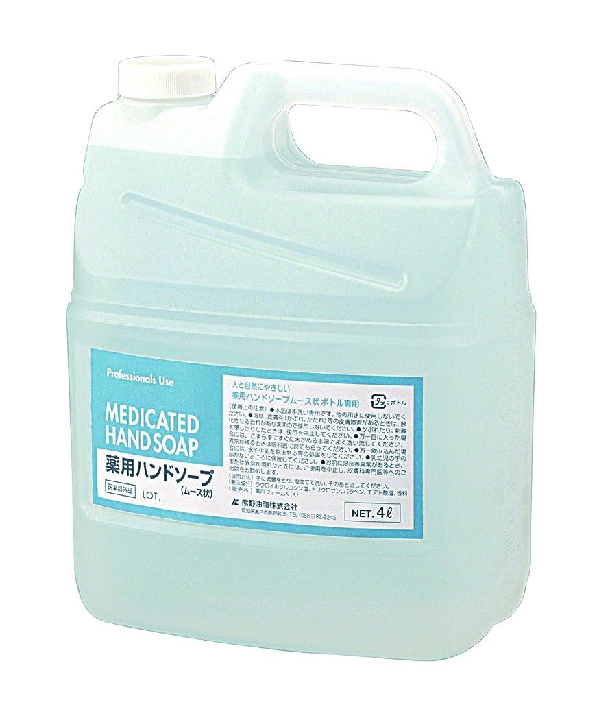 カヌー地域の割れ目セディア薬用ハンドソープ(泡タイプ) 4L /8-6279-11 [医薬部外品]
