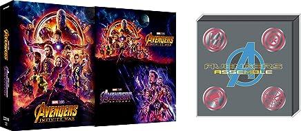 【Amazon.co.jp限定】アベンジャーズ/エンドゲーム&インフィニティ・ウォー MovieNEXセット [ブルーレイ+DVD+デジタルコピー+MovieNEXワールド](オリジナルピンバッチセット付き) [Blu-ray]