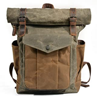 2018 Vintage Men Large Military Oiled Bags Teenagers Laptop Backpack Bag Women