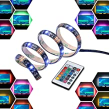 LED Light Strip Bar USB 2M 12V Bias Backlight RGB Light with Remote Control IP65 Waterproof, 50cm*4 Strips for TV Screen L...