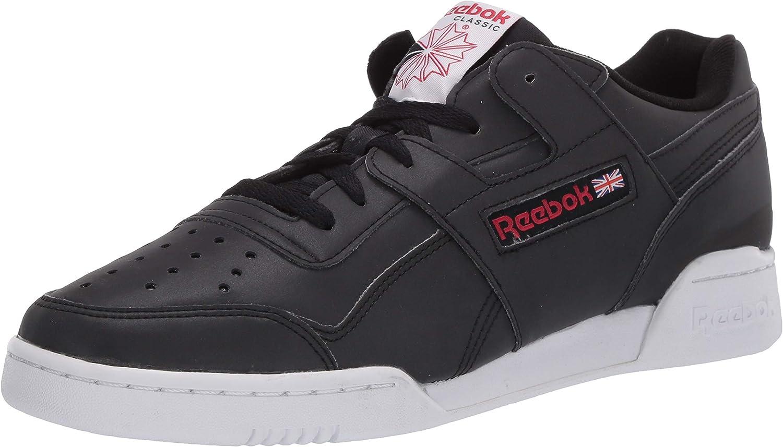 送料込 Reebok Unisex-Adult Workout Plus White Sneaker Black Excellent バーゲンセール