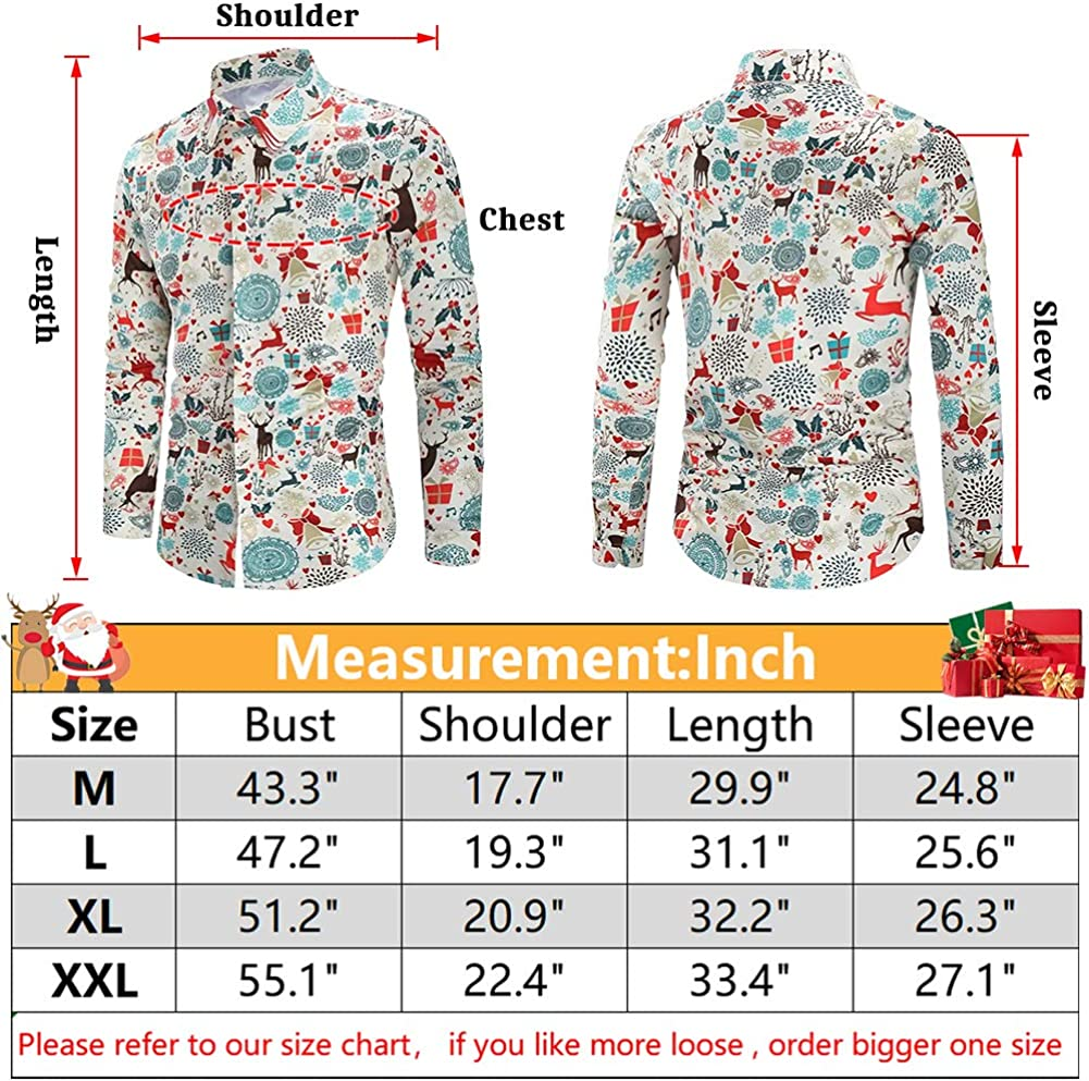 Ahegao Ugly Chrismtas Shirt for Men Long Sleeve Buttons Slim Fit Dress Shirts for Party