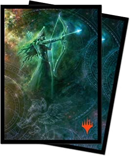 Theros: Beyond Death - Nylea, Keen-Eyed Limited Edition Galaxy Alt Art Deck Protector Sleeves for Magic: The Gathering (10...
