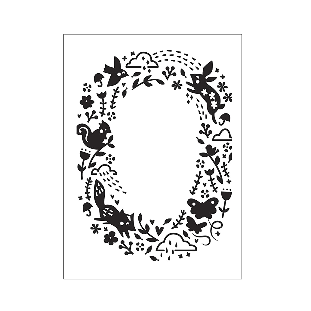 Darice Embossing Folder A6, Template Animal Pattern Open Oval, Transparente
