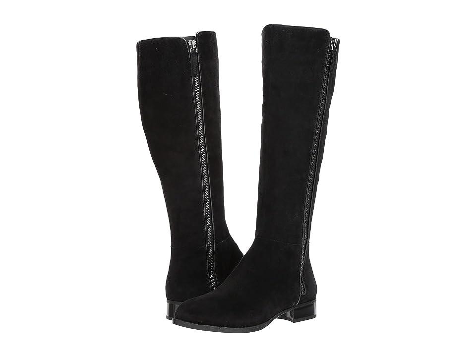 Nine West Nihari Tall Boot (Black Suede) Women