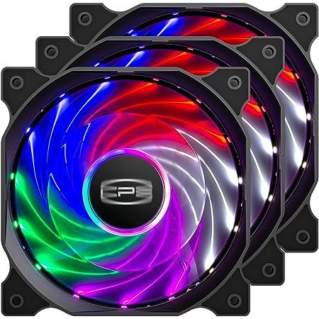 CP3 ventilateur pc à 3 broches, couleur fixe, ventilateur pc 120mm à faible bruit, ventilateur argb haute performance avec roulement hydraulique pour boîtier de PC de jeu (paquet de 3)