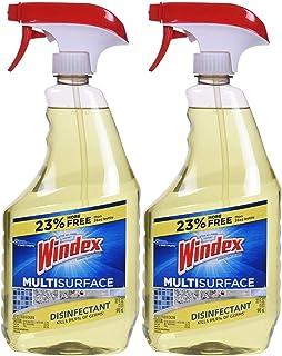 Windex Antibacterial Multi-Surface Cleaner, 32 Fl Oz Spray Bottle, Pack of 2