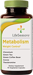 LifeSeasons - Metabolism - Weight Control Support and Energy Booster Supplement - Natural Appetite Suppressant - Mood Enha...