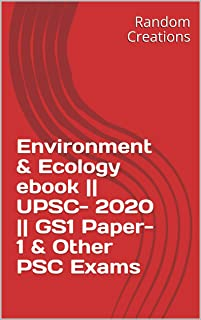 Environment & Ecology ebook || UPSC- 2020 || GS1 Paper-1 & Other PSC Exams