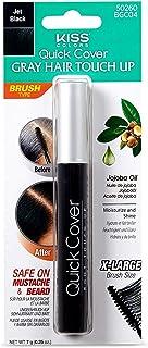 Kiss Quick Cover Gray Hair Touch Up Brush #50260 BGC04 Jet Black 0.25oz