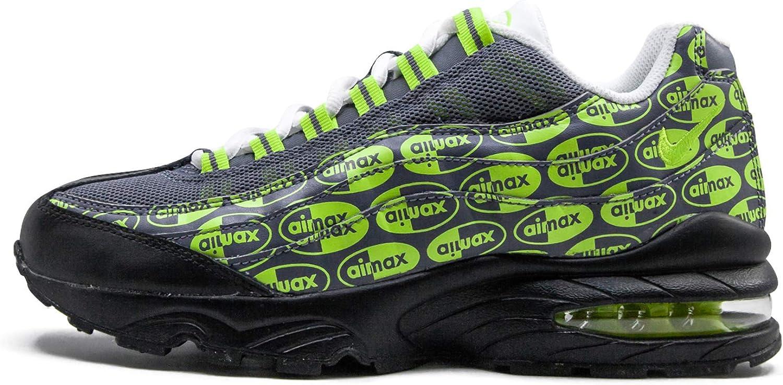 Amazon.com   Nike Youth Air Max 95 Se (Gs) Black/Volt-Ash-White ...