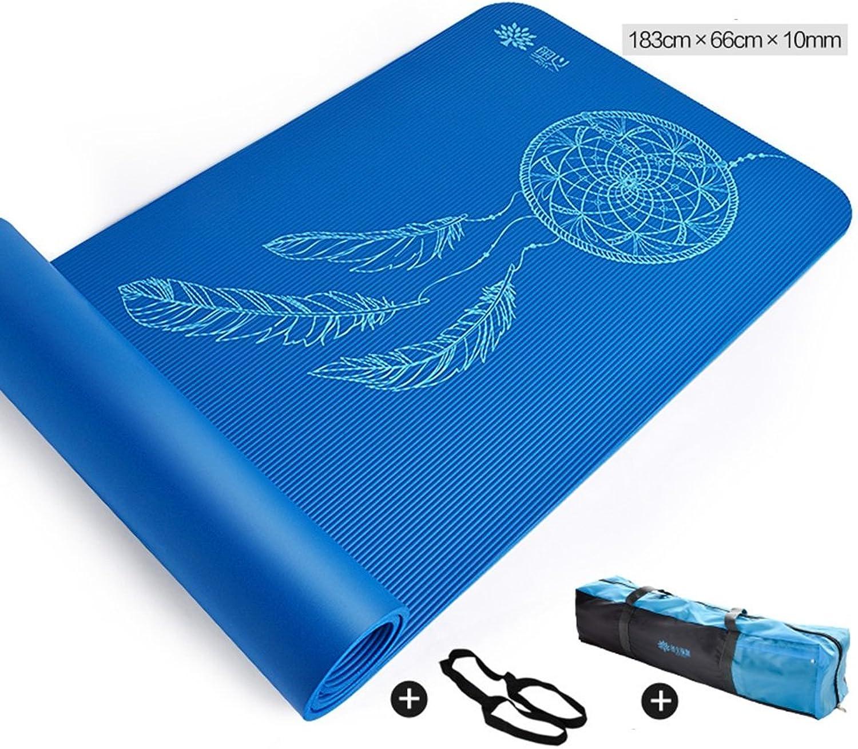 AINIYF Yogamatte - Rutschfeste umweltfreundliche übungs- und Fitnessmatte für alle Arten von Yoga, Pilates und Bodenübungen   72x26inches
