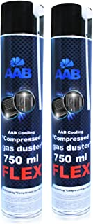 AABCOOLING Compressed Gas Duster Flex 750ml - 2 Pièces - Air Comprimé avec Un Tube Flexible, Bombe Air Sec, Air Comprimé N...