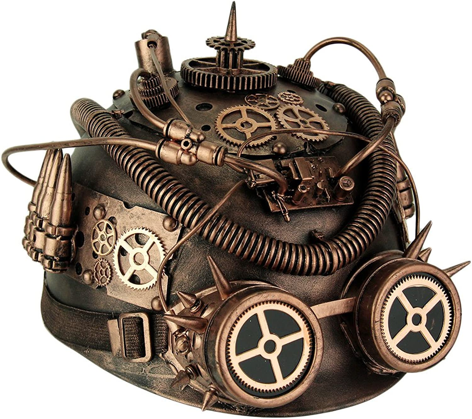 KBW Metallic Copper Spiked Steampunk Helmet with Goggles