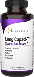 LifeSeasons - Lung Capaci-T - Lung and Respiratory Support Supplement - Helps Reduce Phlegm - with Ginkgo B...