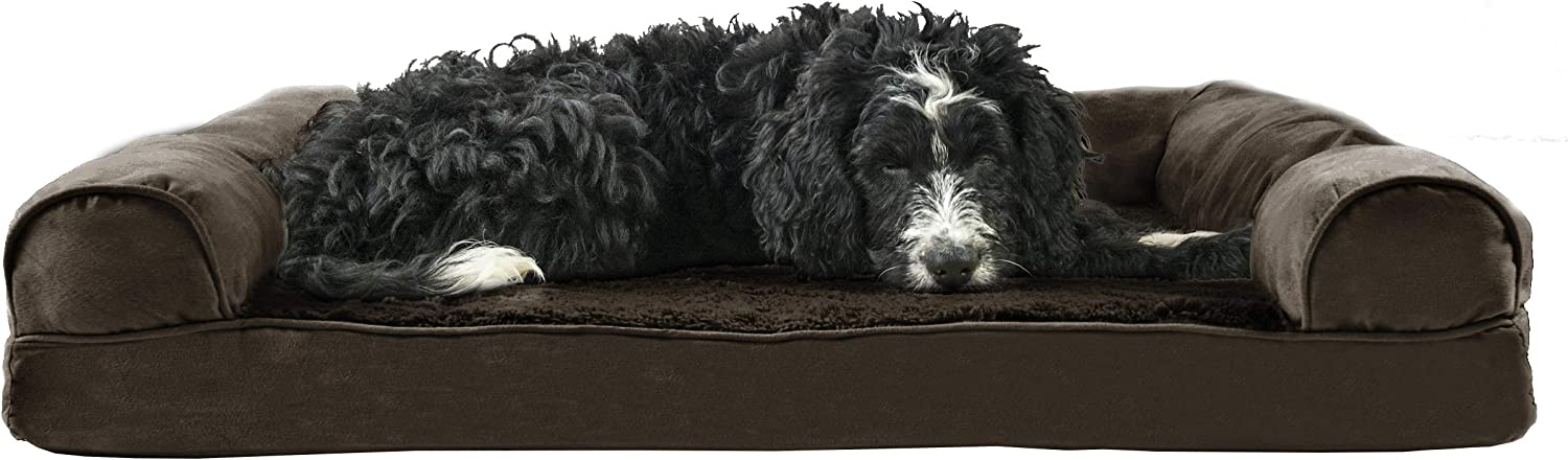 Furhaven Pet Dog Bed - Special sale item Memory Foam Plush Faux Ultra OFFer Sued and Fur