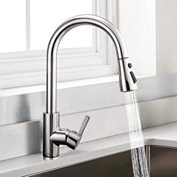 Dalmo High Arc Pull Down Sprayer Kitchen Faucet