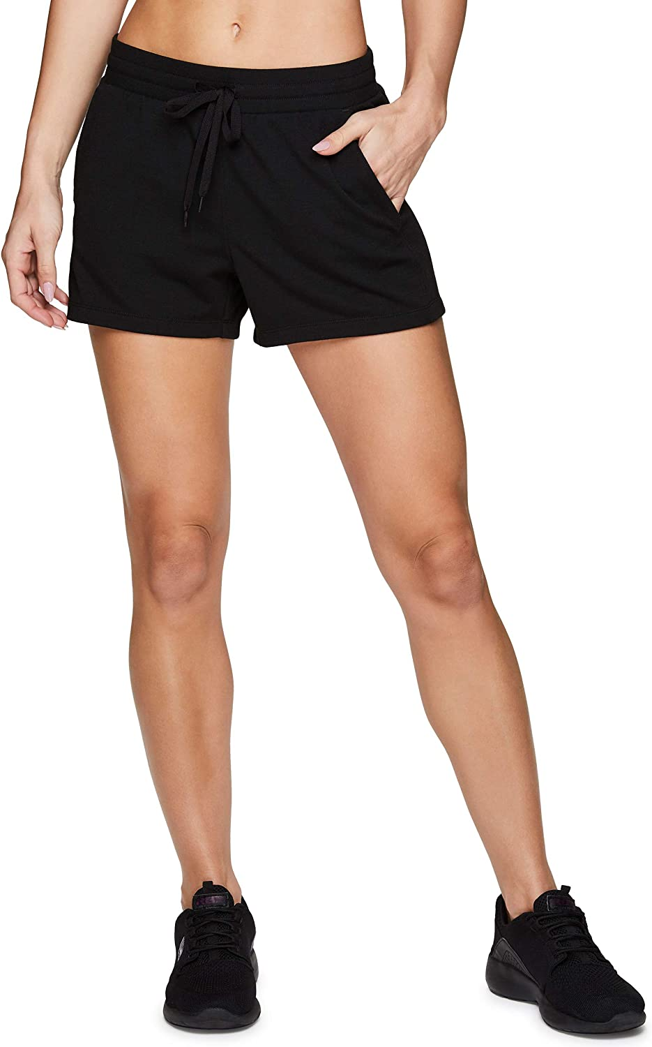 RBX Active Women's Lightweight Breathable Relaxed French Terry Athletic Walking Lounge Shorts