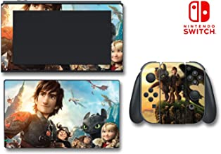 How to Train Your Dragon 2 Hiccup Astrid Toothless Video Game Vinyl Decal Skin Sticker Cover for Nintendo Switch Console System