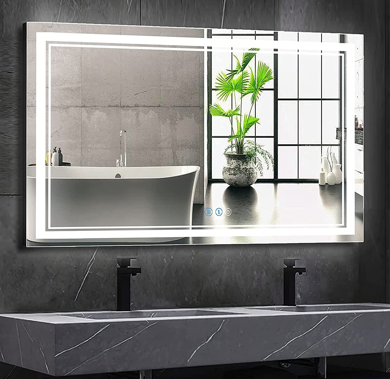 DIDIDADA Bathroom Vanity LED Financial Wholesale sales sale Mirror with Mirrors Inch 48x32