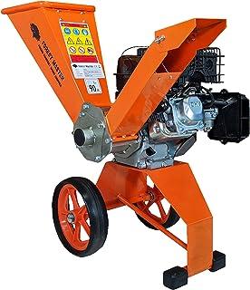 Forest Master 6hp astilladora de madera de gasolina compacta de 208 cc 4 tiempos potentes chips de hasta 50 mm de diámetro, portátil ligero y bien equilibrado, fácil almacenamiento, 780 x 480 x 910