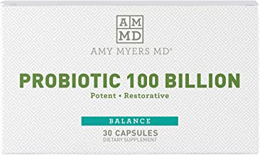 Dr. Amy Myers Best Probiotics 100 Billion CFU Per Capsule - for Women & Men - Powerful Combination of Doctor Approved Stra...