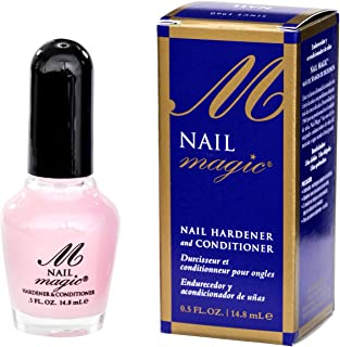 Nail Magic Nail Hardener & Conditioner, Assists with Chipping, Peeling, Brittle Fingernails, Strengthens, Conditions, & Hardens Nails, 0.5 fluid oz