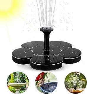 woopus Fuente Solar, Bomba de Agua para Exterior para Estanque con Panel Solar monocristalino de