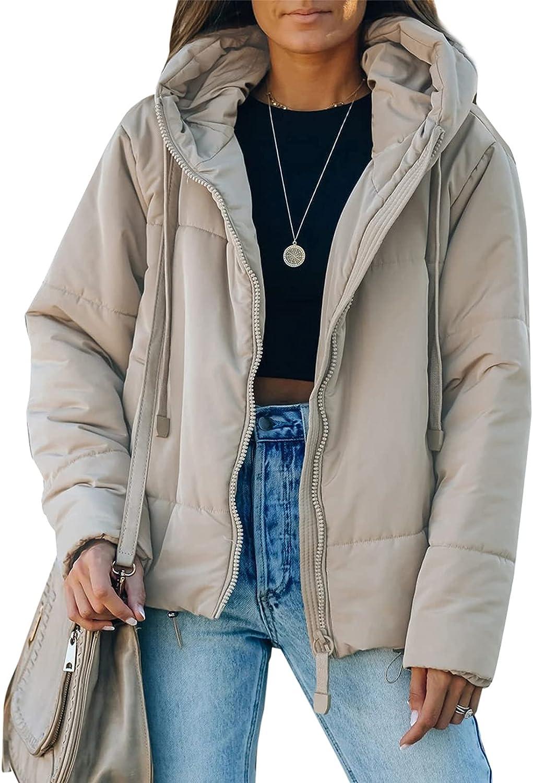 Dokotoo Womens Winter Full security Zipper Puffer Boston Mall Jacket Short Coa Hooded