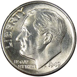 1949 10c Roosevelt Silver Dime US Coin Uncirculated Mint State