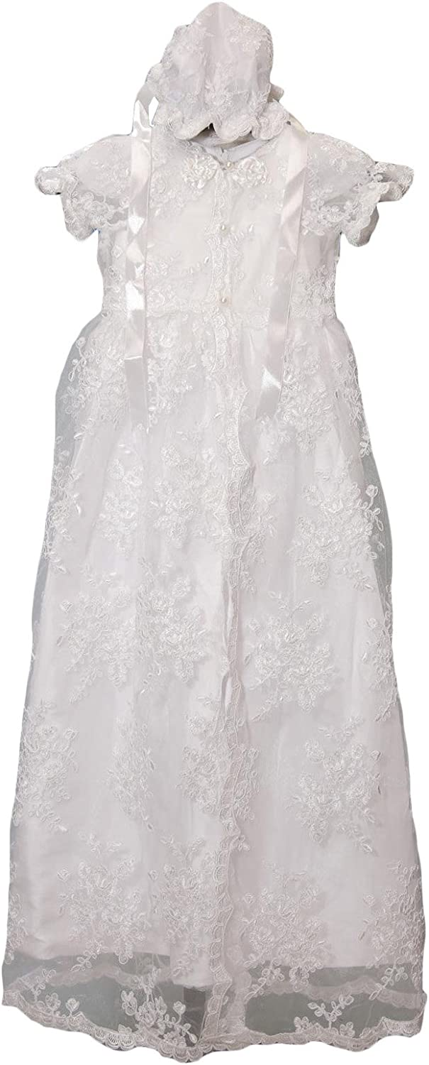 Newdeve Baby-Girls Champagne White Formal Christening Online limited product Ivory Ranking TOP11 Gown