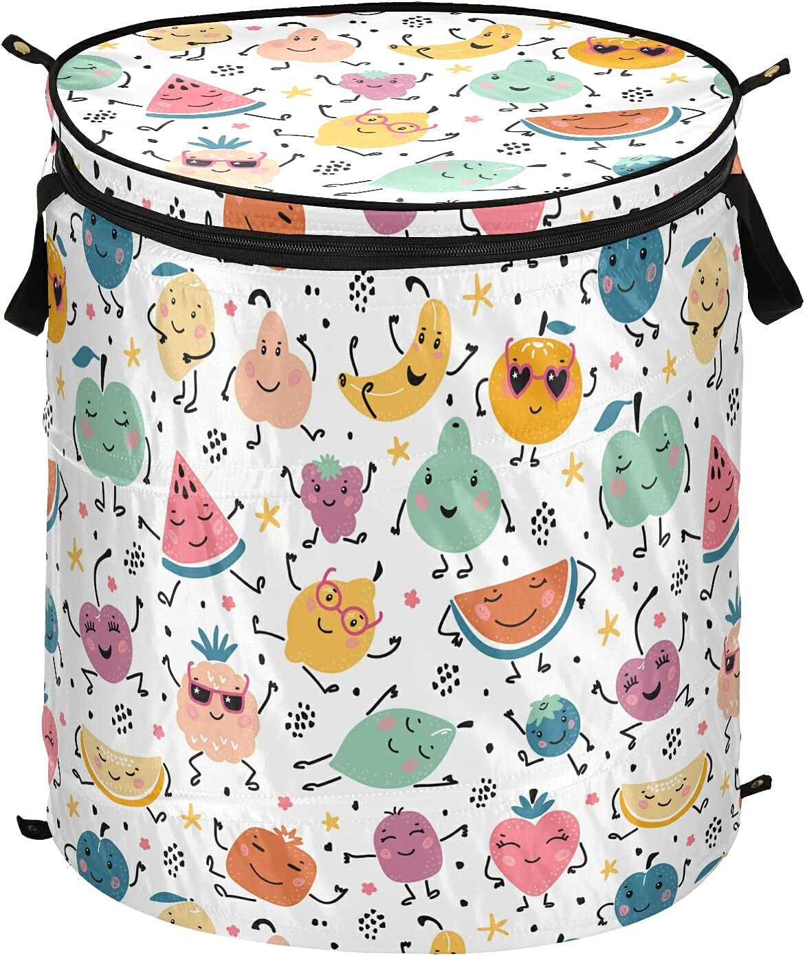 ALAZA 50 High material L Pop-up Laundry Product Hamper Summer Fruits Kawaii and Cute