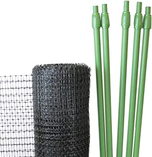 Deer Fencing Kit, 100 Feet of Netting with Poles