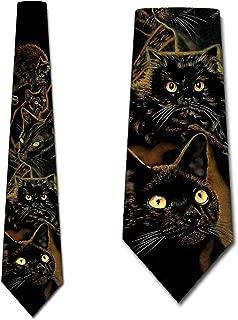 Black Cats Tie Mens Animal Cat Necktie