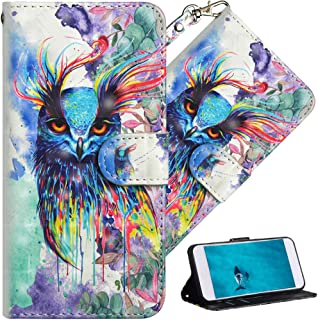 HMTECHUS Xiaomi Mi Max 2 case Premium 3D Colorful Painting Wallet Case Folio Flip PU Leather with Card Holder Slots Design Full-Body Protect Cover for Xiaomi Mi Max 2