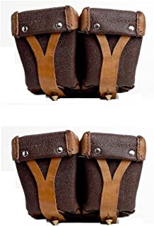 Ultimate Arms Gear 2 Pack Surplus Original Russian Military Mosin Nagant Leather Dual Stripper Clips Pouch 7.62X54R M38 M44 91/30 1891 91 30 Rifle